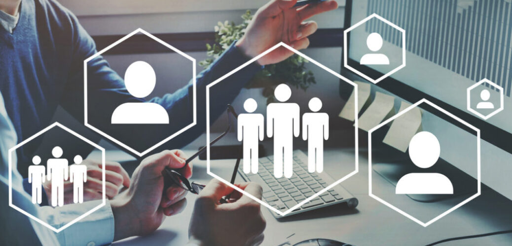 HR, human resource management and team-up concept